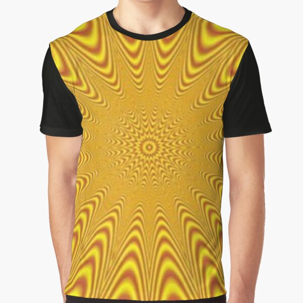 Op art, optical art, visual art, optical illusions, abstract, Composition, frame, texture, decoration, motif, marking, ornament, ornamentation Graphic T-Shirt