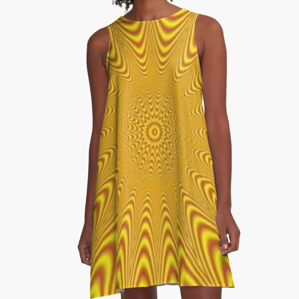 Op art, optical art, visual art, optical illusions, abstract, Composition, frame, texture,  decoration, motif, marking, ornament, ornamentation A-Line Dress