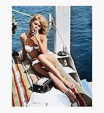 Brigitte Bardot Smoking in a Bikini Photographic Print