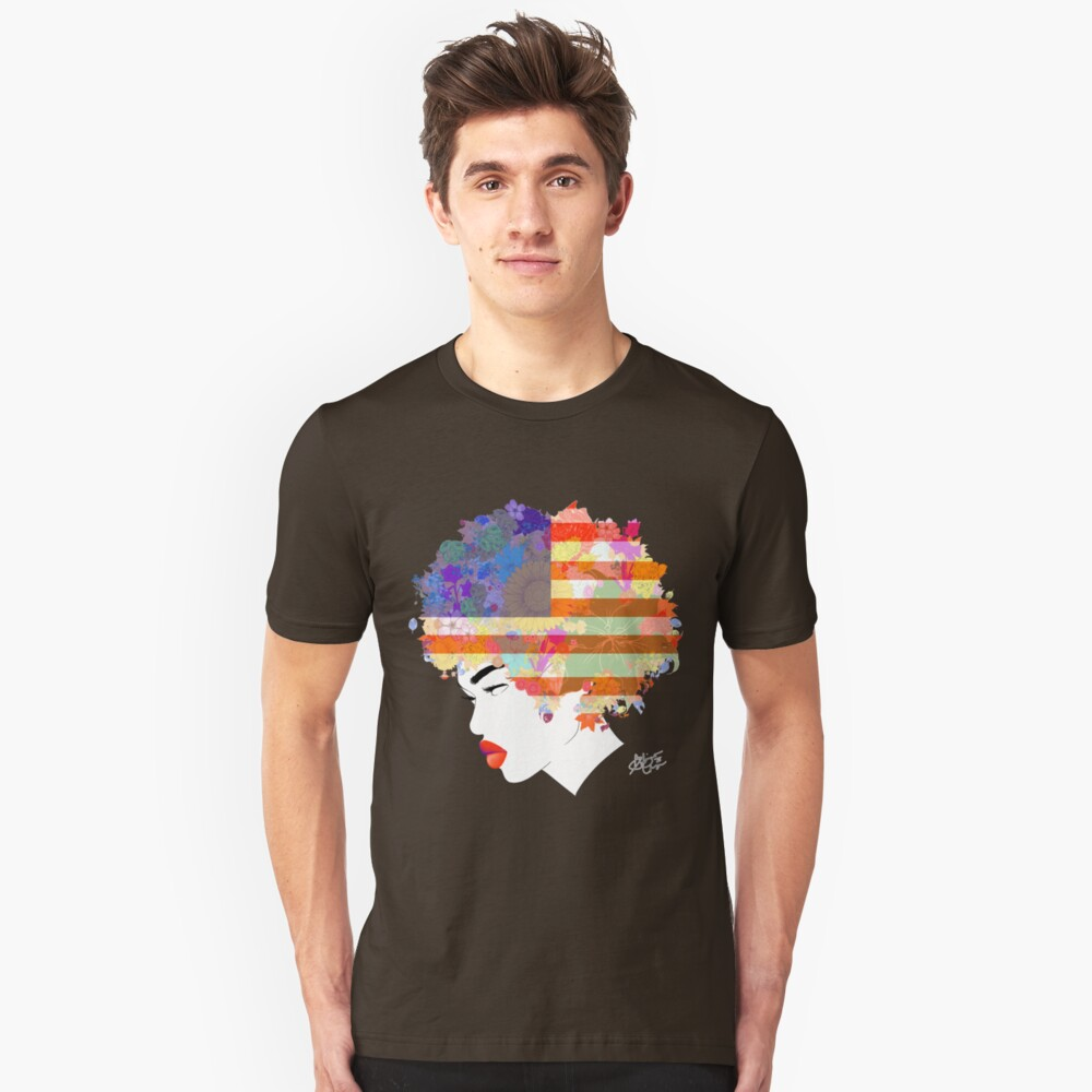American Flower 'Fro ver. 3 Unisex T-Shirt Front