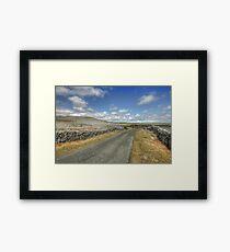 The Burren Road Framed Print