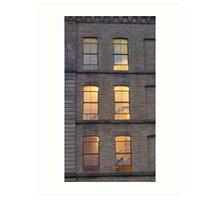 Salts Mill windows Art Print