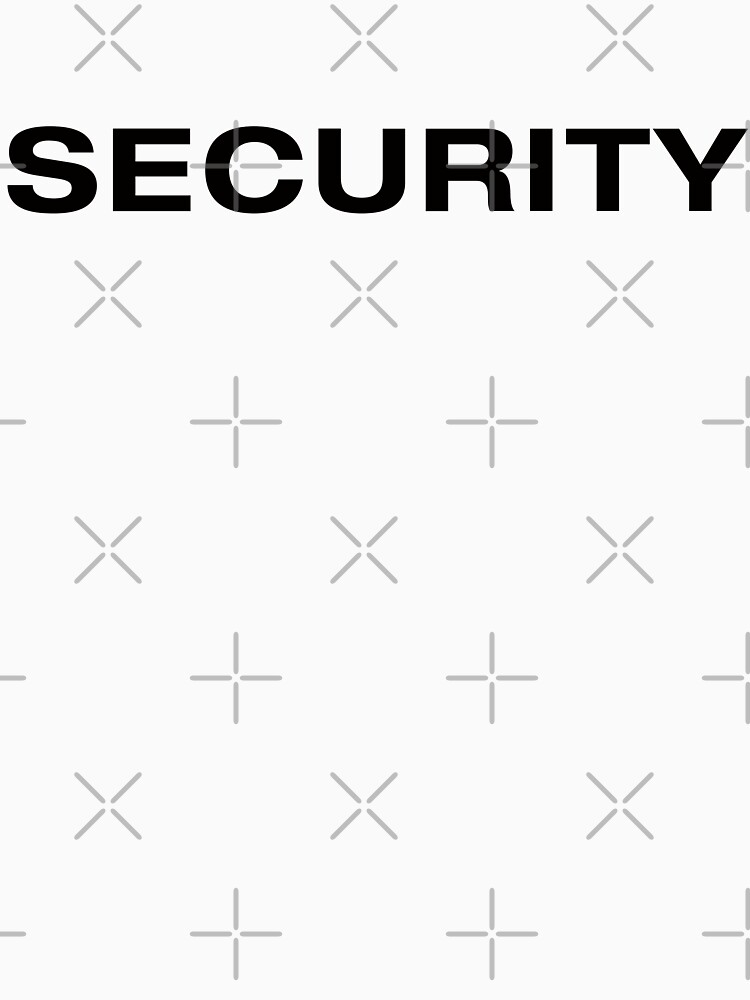 Security (Black Text) by RoufXis