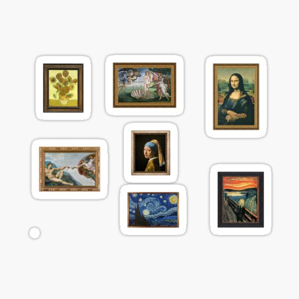 classical art sticker pack Sticker
