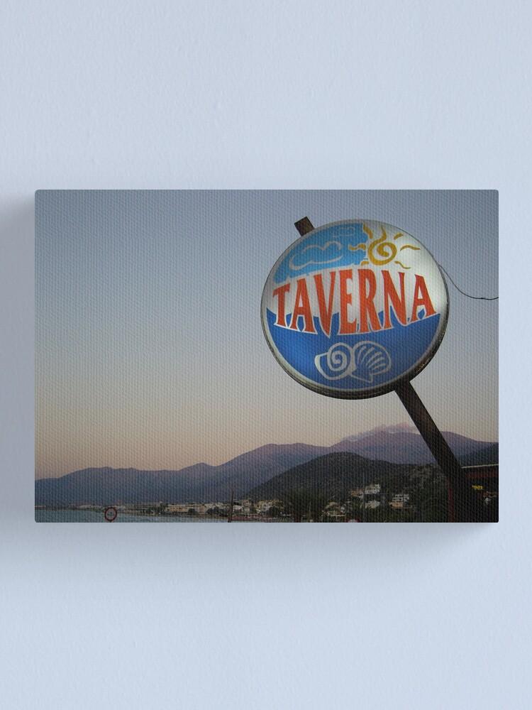 Alternate view of Taverna Canvas Print