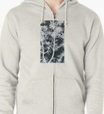 Black & White Forest - Photograph Zipped Hoodie