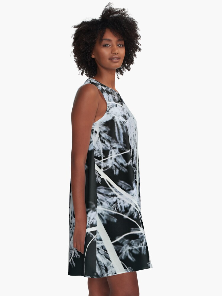Alternate view of Black & White Forest - Photograph A-Line Dress