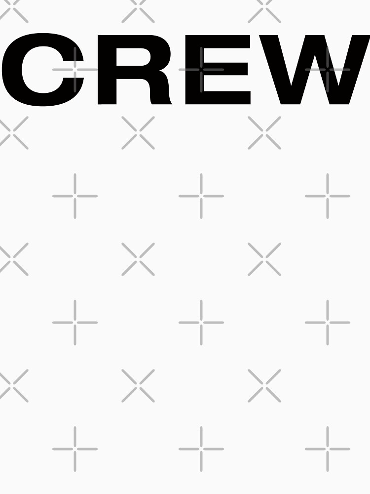 Crew (Black Text) by RoufXis