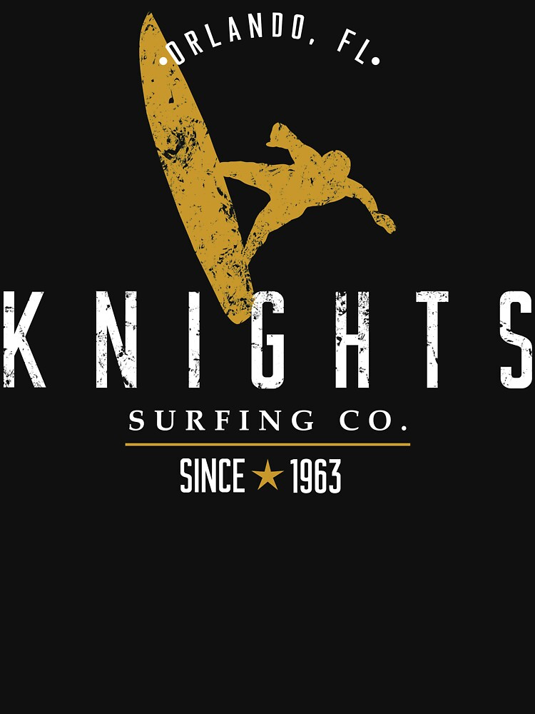 Knights Surfing Company Black & Gold Ocean Alternative by chargeon