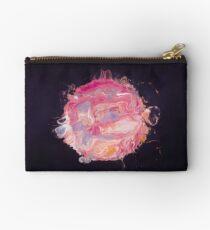 Abstract Planet - Bubblegum Zipper Pouch