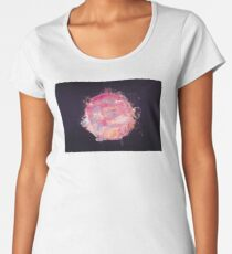 Abstract Planet - Bubblegum Premium Scoop T-Shirt