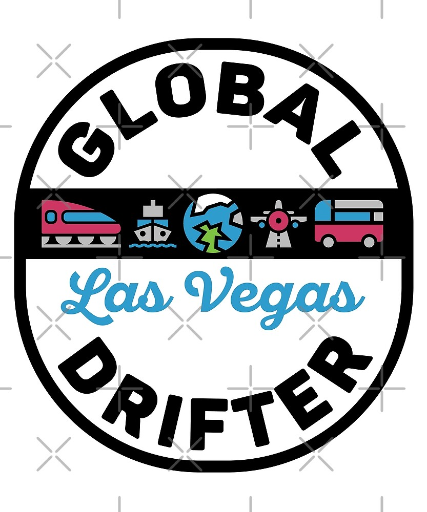 Las Vegas United States Global Drifter by designkitsch