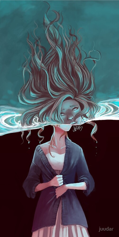 The Drowning Girl by juudar
