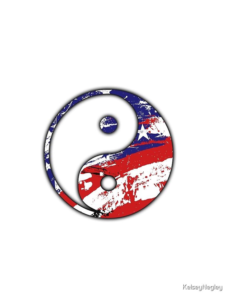 American flag yin yang  by KelseyNegley