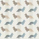 Pembroke Welsh Corgi's Pattern - Natürlich von XOOXOO