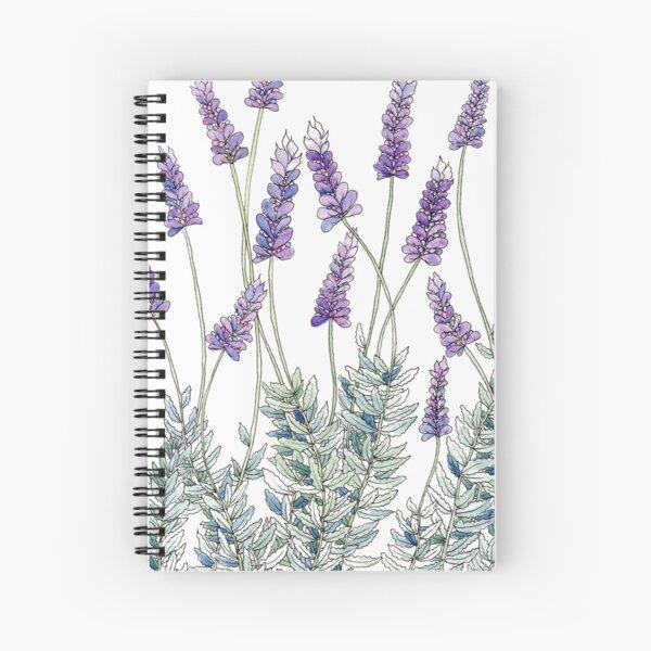 Lavender, Illustration Spiral Notebook