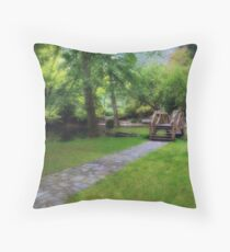 Green and Gold Throw Pillow