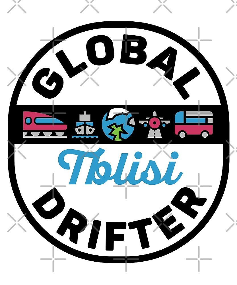 Tblisi Georgia Global Drifter by designkitsch