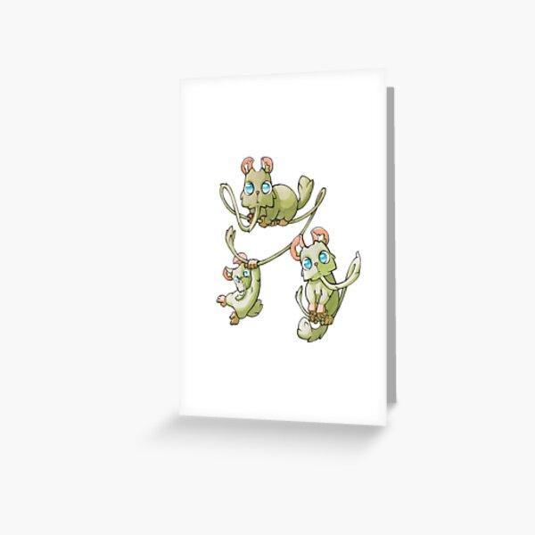 Petites créatures mignonnes Carte de vœux