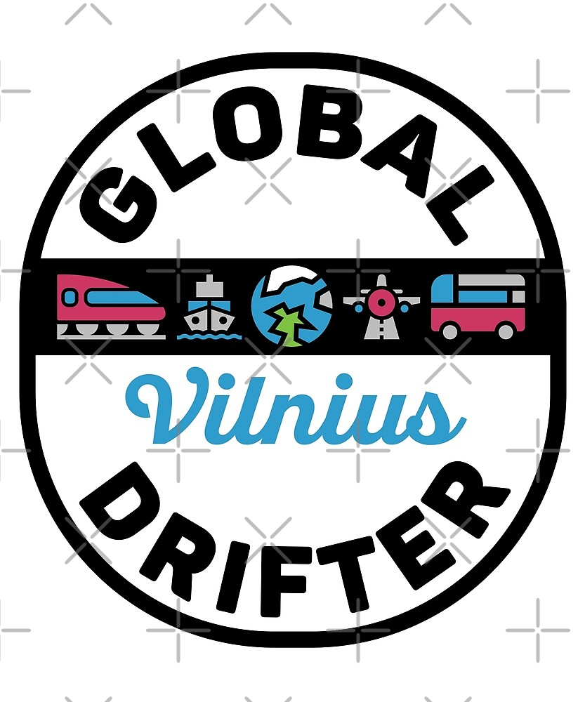 Vilnius Lithuania Global Drifter by designkitsch