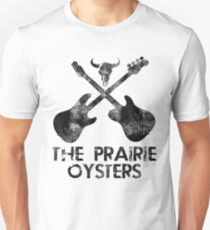THE PRAIRIE OYSTERS BAND LOGO (BLACK FOR LIGHT COLOURS) Slim Fit T-Shirt