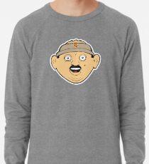 coffee donut man 90s nineties cartoon head drawing  Lightweight Sweatshirt