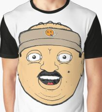 coffee donut man 90s nineties cartoon head drawing  Graphic T-Shirt