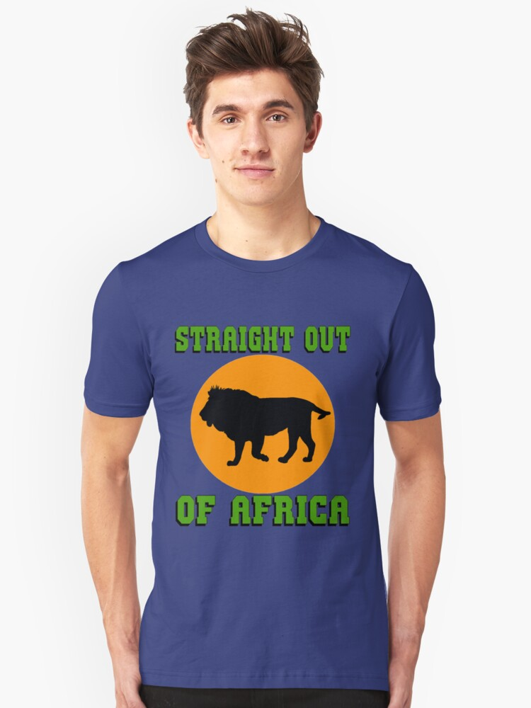 LION-STRAIGHT OUT OF AFRICA Unisex T-Shirt Front