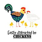 Easily distraction by chickens by Edge-of-dreams
