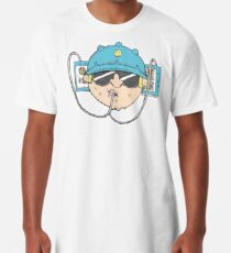 Beer Soda Guzzler Hat Goggles Cartoon Head Drawing Long T-Shirt