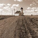 Prairie Church in Sepia by Zack Ireland
