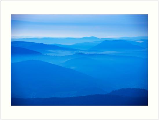 « Les Vosges dans la brume » par Jean Isenmann