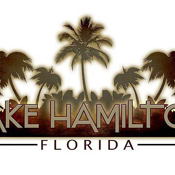Lake Hamilton Florida palm tree words by artisticattitud