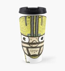football head sweating cartoon man  Travel Mug