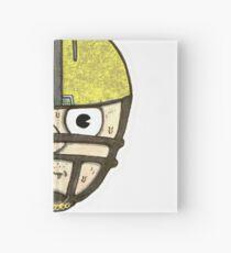 football head sweating cartoon man  Hardcover Journal