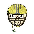 football head sweating cartoon man  by JustNukeIt