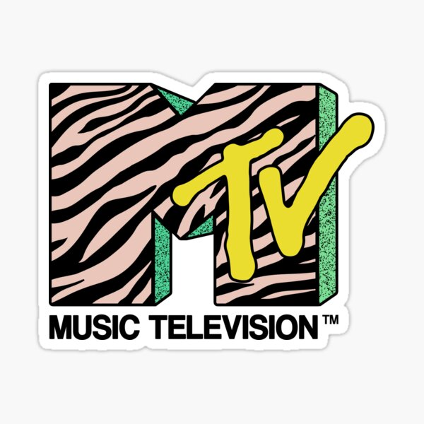 MTV - retro Pegatina