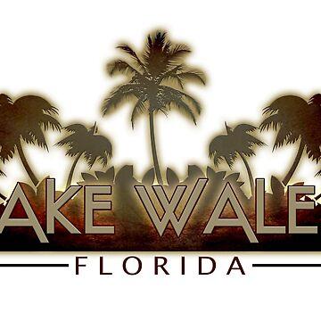 Lake Wales Florida palm tree words by artisticattitud