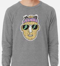 80s Surfer Lifeguard Sunscreen Dude Illustration Head Eighties Lightweight Sweatshirt