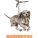 Dogcopter mit orange Titel von Lavinia Knight