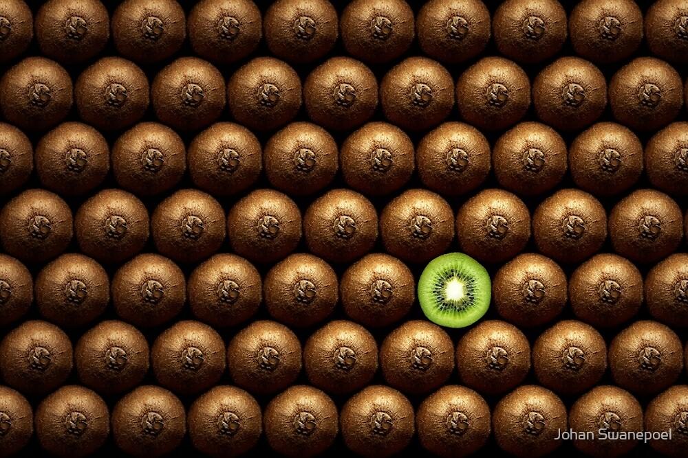 Sliced kiwi between group by Johan Swanepoel