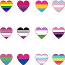 LGBTQ+ Hearts Sticker pack by Elisecv