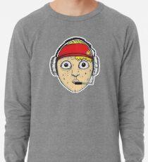 Fast Food Worker Illustration Cartoon Head Wearing a Headset Lightweight Sweatshirt