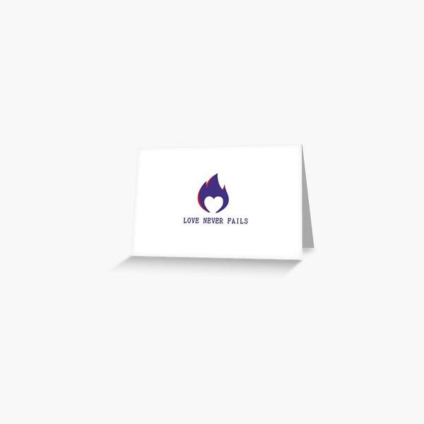 Pixelated Heart Logo - White Print Version  Greeting Card