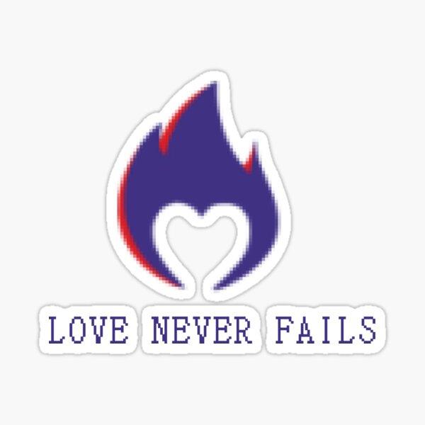 Pixelated Heart Logo - White Print Version  Sticker