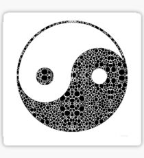 Perfect Balance 1 - Yin and Yang Stone Rock'd Art by Sharon Cummings Sticker