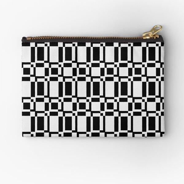 Fill and Stroke - Geometric Checkered Pattern (Black) Zipper Pouch