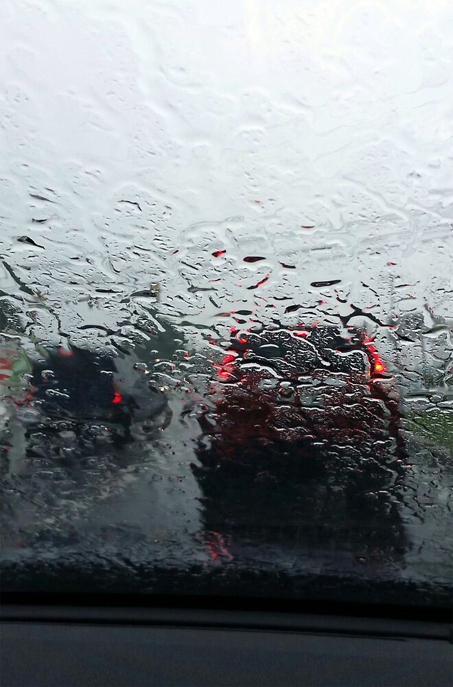 Rain on Windshield by silvergator