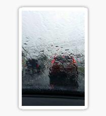 Rain on Windshield Sticker