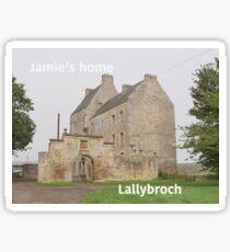 Jamie's home ... at Lallybroch Sticker